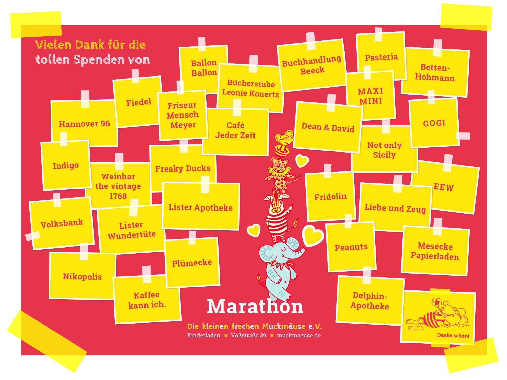 Vielen Dank für die tollen Spenden für unsere beliebte Marathon-Stand-Tombola!